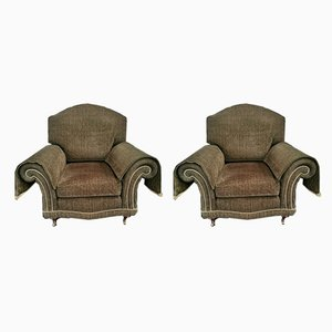 Wingback Club Chairs from Duresta, 1980s, Set of 2
