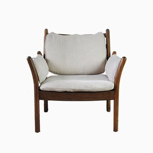 Dänischer Modell Genius Sessel aus Eichenholz von Illum Wikkelsø für CFC Silkeborg, 1960er