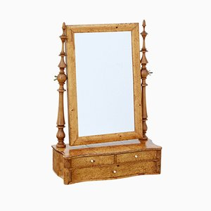 19th-Century Swedish Burr Birch Vanity Mirror