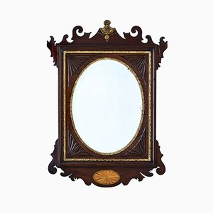 19th-Century Sheraton Style American Walnut Mirror