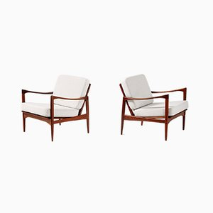 Candidate Afromosia Teak Lounge Chairs by Ib Kofod Larsen for OPE, 1960s