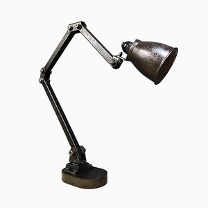 Industrial English Machinist Table Lamp from Memlite, 1950s