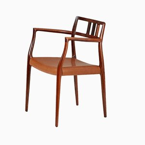 64 Armlehnstuhl aus Palisander von Niels Otto Møller für JL Møllers, 1966