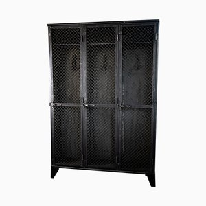 Antique French Metal Cabinet from Gantois, 1940s