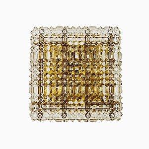 Deckenlampe Kristallglas von Kinkeldey, 1960er