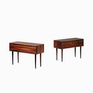 Rosewood Nightstands by Clausen for NC Mobler, 1960s, Set of 2