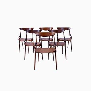 Chaises de Salle à Manger par Arne Hovmand-Olsen pour Mogens Kold, 1950s, Set de 6