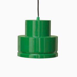 Lámpara de techo vintage de metal verde