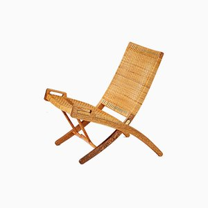 JH-512 Oak Folding Chair by Hans J. Wegner for Johannes Hansen, 1949