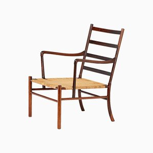 Colonial Sessel aus Palisander von Ole Wanscher für Poul Jeppesens Møbelfabrik, 1949