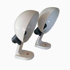 Vintage Space Age Tischlampen von iGuzzini, 1968, 2er Set