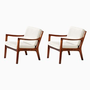 Rosewood Lounge Chairs by Ole Wanscher for France & Søn, 1960s, Set of 2