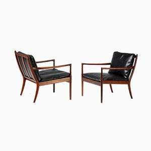 Rosewood Samso Chairs by Ib Kofod-Larsen for Olof Perssons Fatoljindustri, 1950s, Set of 2