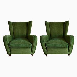 Grüne Klubsessel von Paolo Buffa, 1950er, 2er Set