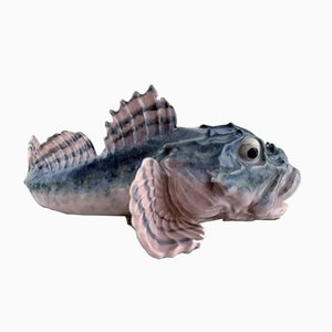 Antique Art Nouveau Fish Sculpture from Royal Copenhagen