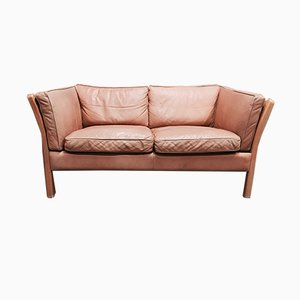 Vintage Leather 2-Seater Sofa from Stouby