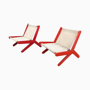 Folding Chairs, 1950s, Set of 2