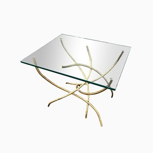 Coffee Table with Metal Base, 1970s