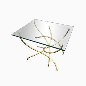 Mesa de centro con base de metal, años 70