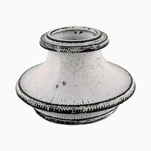 Large Vintage Danish Glazed Stoneware Candleholder by Svend Hammershøi for Kähler
