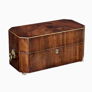 19th-Century Regency Mahogany Tea Caddy