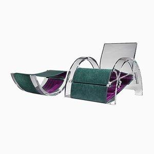 Chaise Belt & Braces avec Tabouret Companion par Steve Woodman et William Drabble
