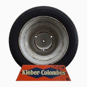 Présentoir de Pneu Kléber Colombes Industriel Vintage de SPAP, 1950s