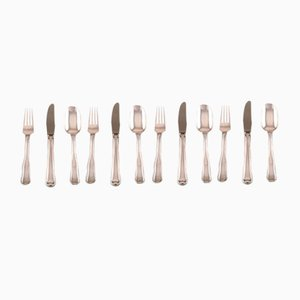 Danish Lunch Cutlery Set from Georg Jensen, 1940s, Set of 12