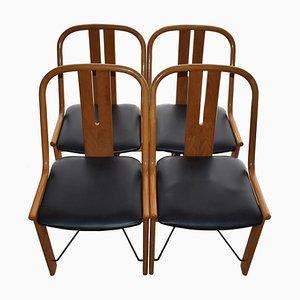 Vintage Esszimmerstühle aus Massivholz, 4er Set