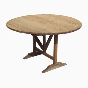 Antique Oak Tilt-Top Dining Table