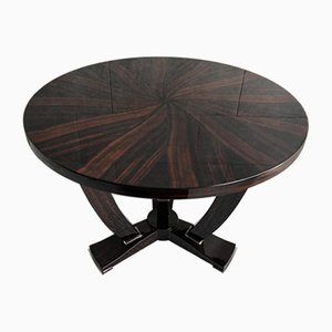 Art Deco French Macassar Ebony Coffee Table, 1930s