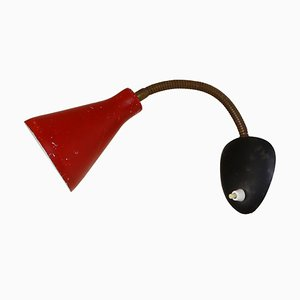 Red and Black Sconce, 1950s