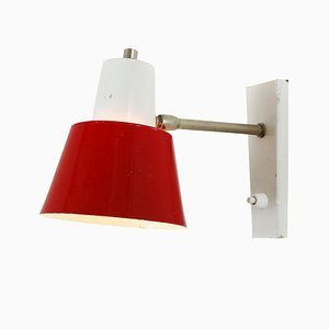 Red and White Sconce from Hala, 1970s