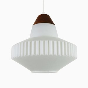Vintage Milk Glass Pendant Lamp, 1960s
