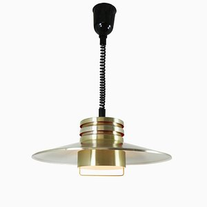 Ceiling Height Adjustable Lamp from Dijkstra Lampen, 1970s