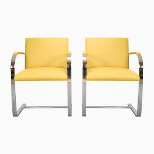 Brno Chairs by Ludwig Mies van der Rohe for Knoll Studio, 1980s, Set of 2