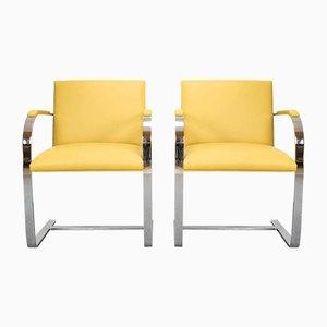 Brno Stühle von Ludwig Mies van der Rohe für Knoll Studio, 1980er, 2er Set