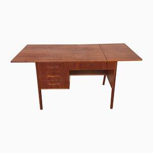 Vintage Scandinavian Teak Extendable Desk, 1960s