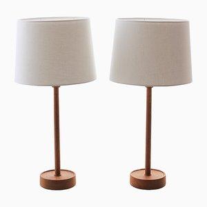 Lampes de Bureau Scandinaves par Uno & Östen Kristiansson pour Luxus, 1960s, Set de 2
