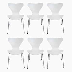 Model 3107 Side Chairs by Arne Jacobsen for Fritz Hansen, 1950s, Set of 6
