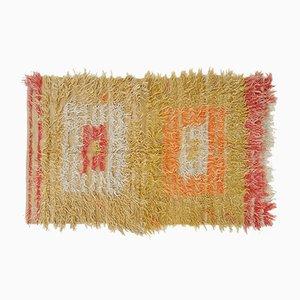 Vintage Mohair Filikli Tulu Rothko Rug, 1960s