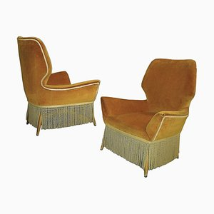 Italian Armchairs by Luigi Saita, 1940s, Set of 2