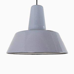 Industrial Enamelled Steel Pendant Lamp, 1960s