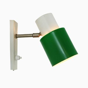 Green and White Sconce from Hala, 1970s