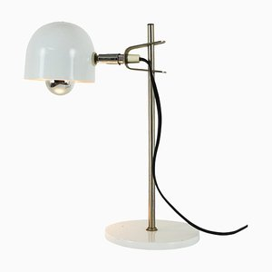 Small White Adjustable Desk Lamp, 1970s