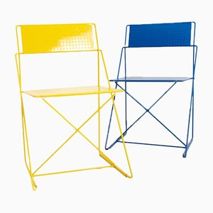 X-Line Stacking Chairs by Niels Jørgen Haugesen for Magis, 1970s, Set of 2