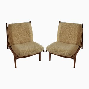 Model 790 Lounge Chairs by Joseph-André Motte for Steiner, 1960s, Set of 2