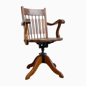 Chaise de Bureau en Chêne, 1910s