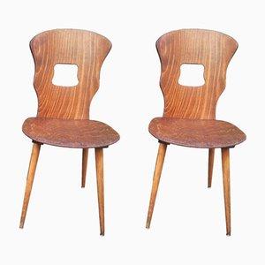 Vintage Gentiane Bistro Chairs from Baumann, Set of 2