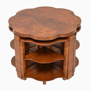 Walnut Nesting Coffee Tables, 1920s